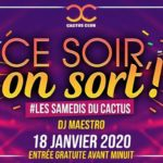Ce soir, on SORT ! Dj Maestro – Cactus Club